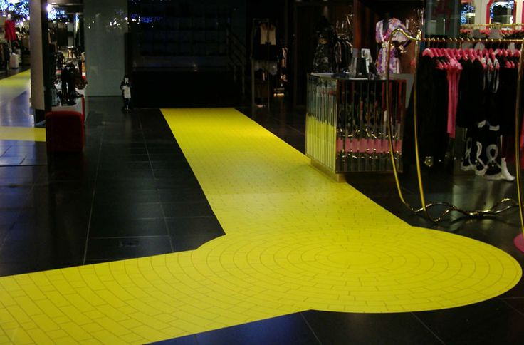 Follow The Yellow Brick Road Floor Graphics Flooring