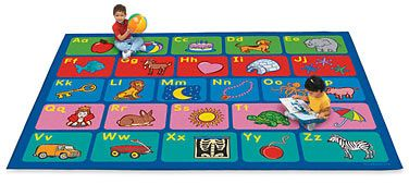 With Lakeshore's Alphabet Activity Classroom Carpets, kids can explore the alphabet from beginning to end, practice letter recognition and letter-sound association—or just sit on their favorite letters!