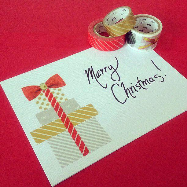 washi tape christmas card ❥Teresa Restegui http://www.pinterest.com/teretegui/ ❥