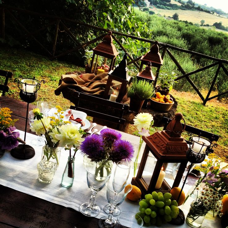 tuscany beauty outdoordining wedding food countryside italy rustic