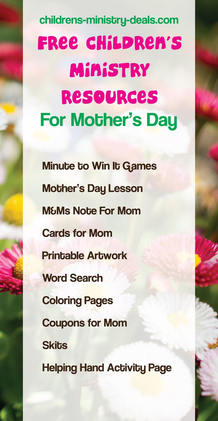 Junior church lessons and crafts - 10 Free Mother S Day Children S Ministry Resources