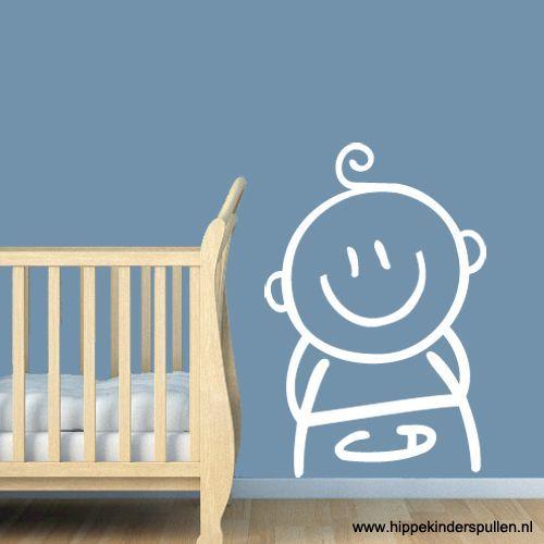 Bezig met de babykamer? Met deze sticker met de afbeelding van een baby maak je de kamer helemaal af.