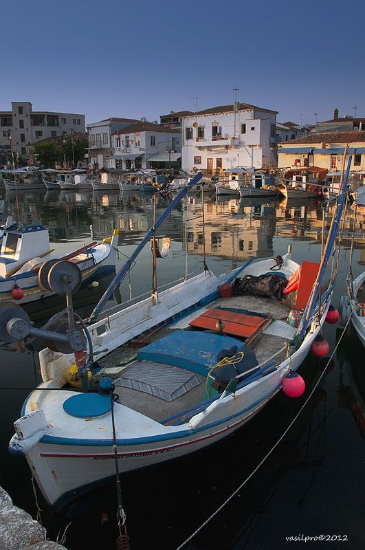 The old port of Lemnos island in the northern part of the Aegean Sea.