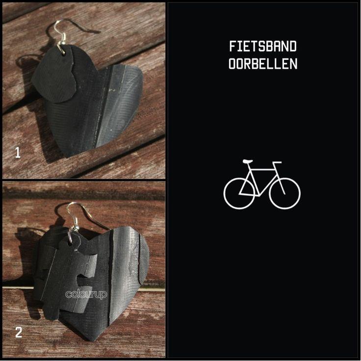 1. ❤️ oorbel (fietsband) ~ €2,75 2. Puzzel ❤️ oorbel (fietsband) ~ €2,75 #recycle ♻️ #fietsband #fiets #band #bike #tire #handmade #handgemaakt #fashion #stoer #hip #kopen #online #buy #Earring #oorbellen #gift #cadeau #puzzle #puzzel #hart #heart #love #liefde