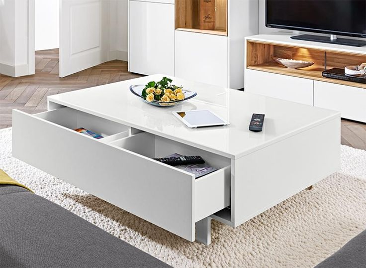 Arte M Chester Contemporary Coffee Table With Drawer Coffee Table Square Black White Tray