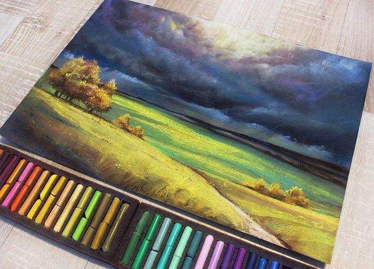Pastel by illustrator Ariadna Chabanyuk (Kyiv, Ukraine)