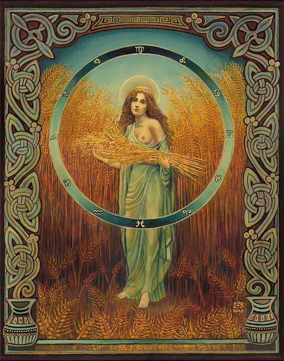 "Ceres is the Roman Goddess of grain, and Her name means ""wheat"" or ""grain."" It is still heard in our word cereal. She is an ancient Italian Goddess of the harvest, and Her worship in Rome is very old."