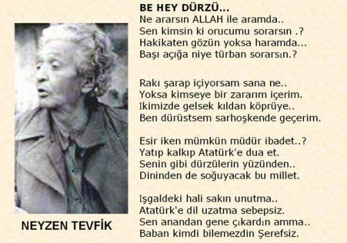Atatürk'e ..