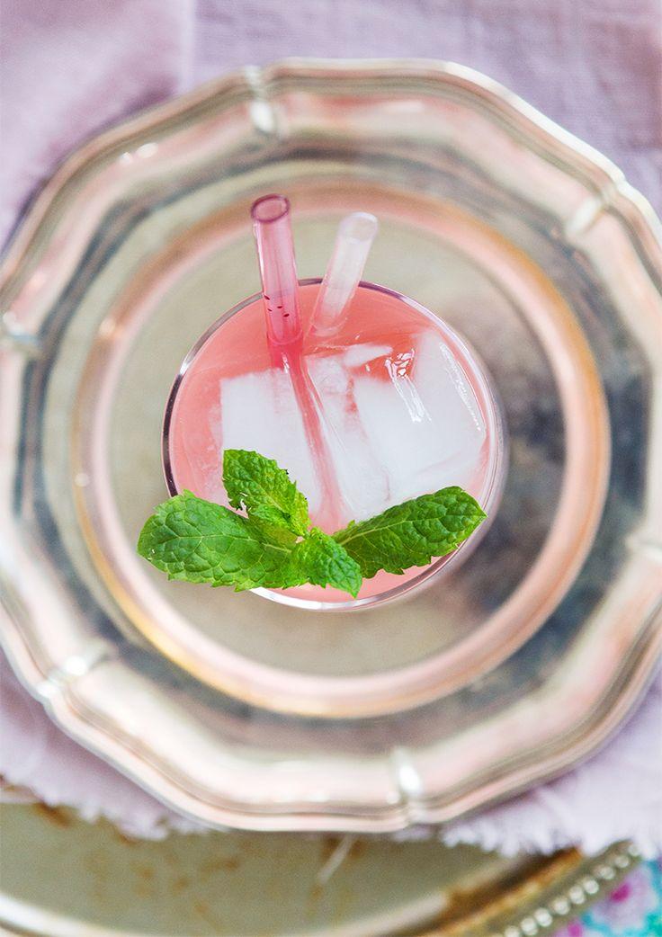 Rhubarb and vanilla cordial. (Rabarbersaft med vanilj.)