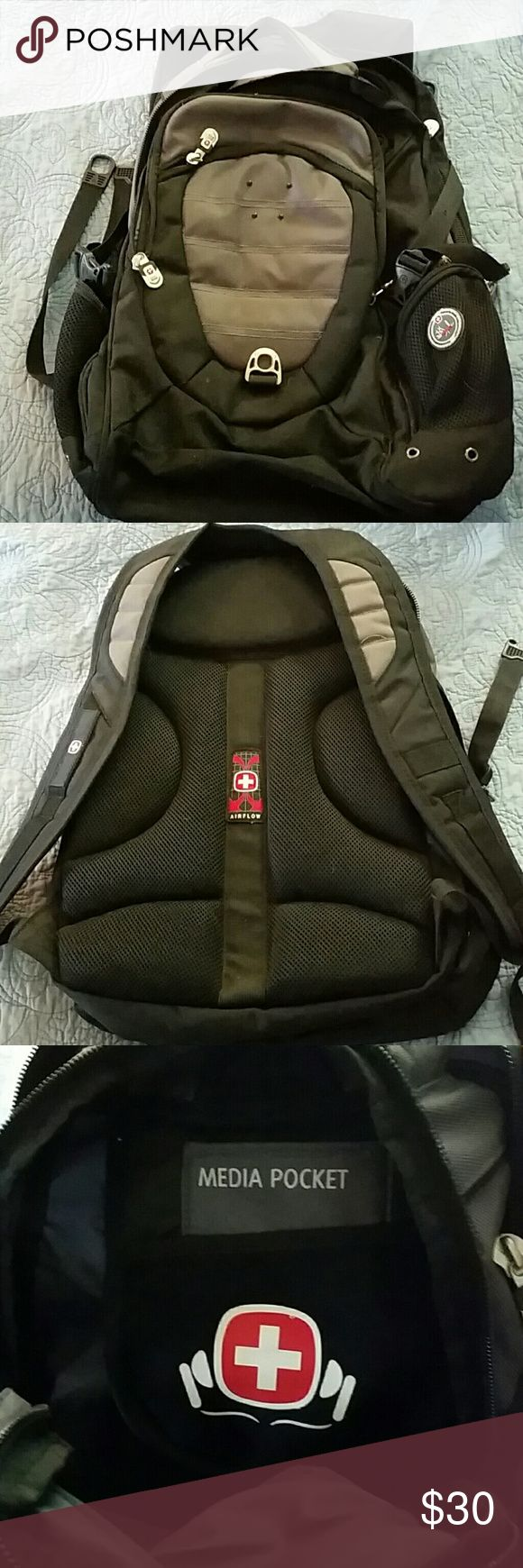 Swiss Gear backpack Nice backpack with side mesh pockets, laptop spot, pens, media pockets, many, many more pockets SwissGear Bags Backpacks