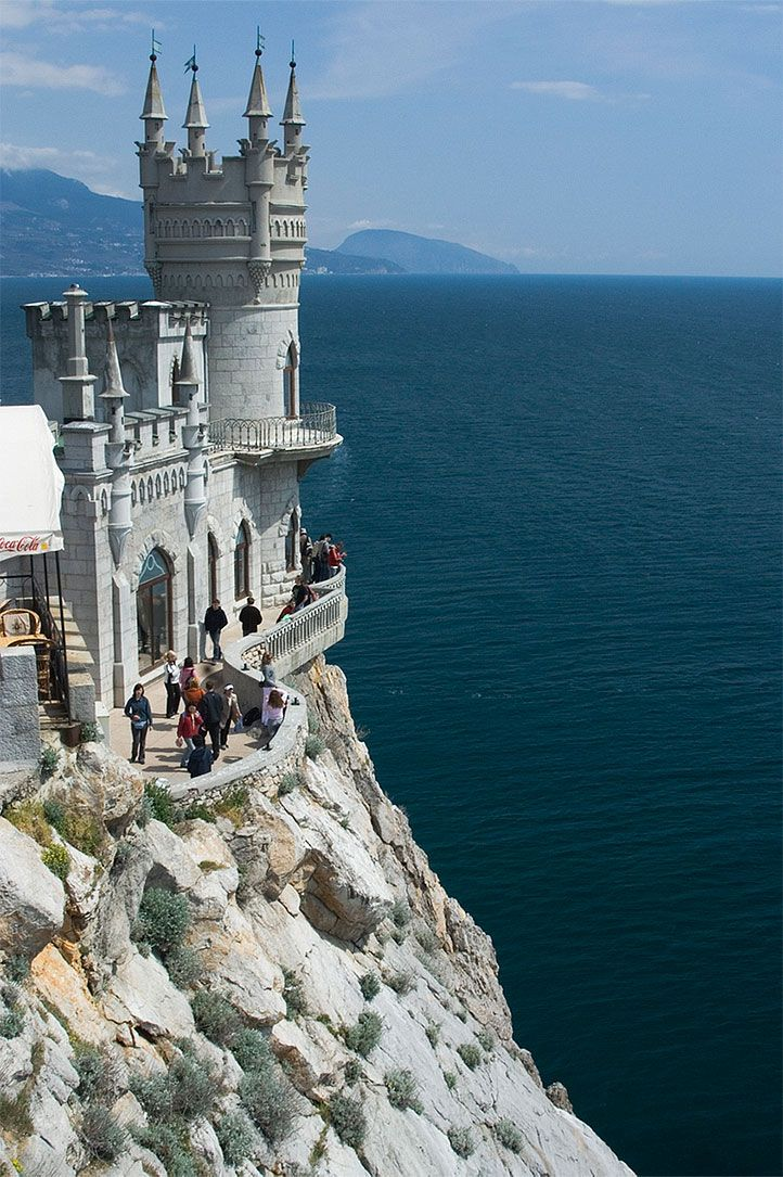 Swallow's Nest Castle, Yalta, Crimea, Ukraine Looks like where Prince Eric would live!