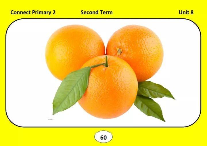بطاقات تعليمية لمنهج اللغة الإنجليزية للصف الثاني الابتدائي كونيكت In 2020 Fruit Orange The Unit
