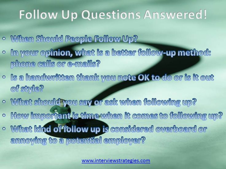 6 Most Asked Follow Up Questions Answered! - resume follow up