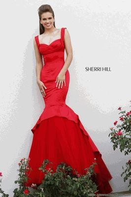 #Sherri Hill 2014 Style #21275 Size 00 #Red & Ivory 4 NOW IN!!!! Shop at #SOSWEETBOUTIQUE.COM