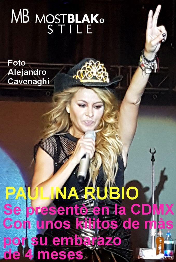 Paulina Rubio se presentò en la CDMX