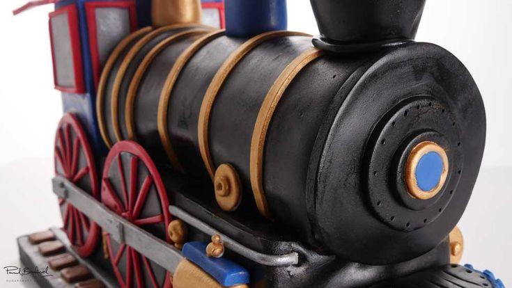 how to make a fondant steam train