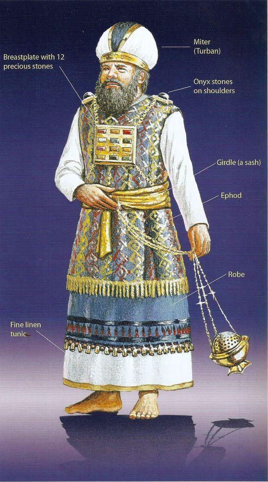 O Sumo Sacerdote. Era o responsável em cuidar do Tabernáculo, local onde as pessoas vinham para adorar a Deus.