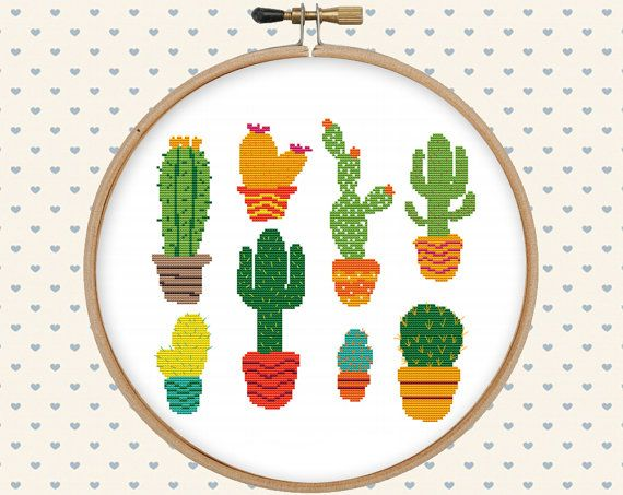 Cactus cross stitch pattern  cute cross stitch  by GentleFeather