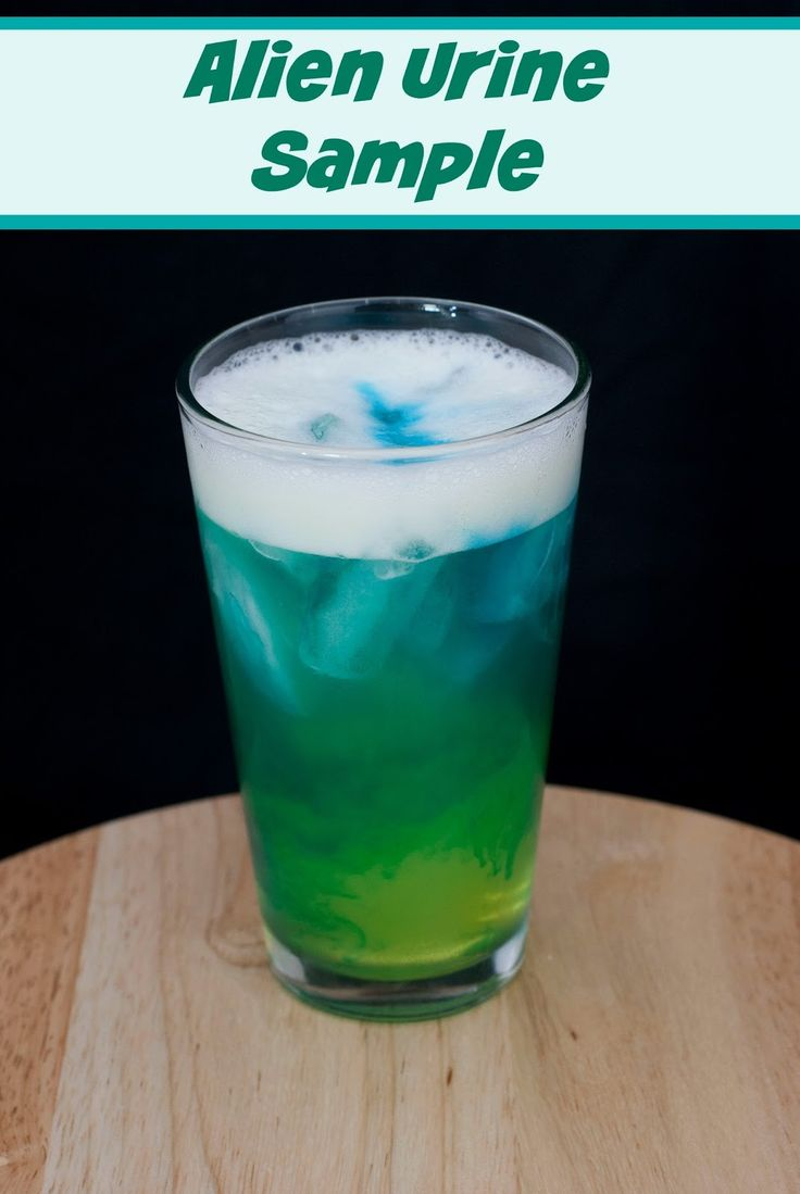 Best 25 alien party ideas on pinterest space theme for Cocktail urine