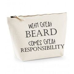 With Great Beard Comes Great Responsibility Mens Wash Bag