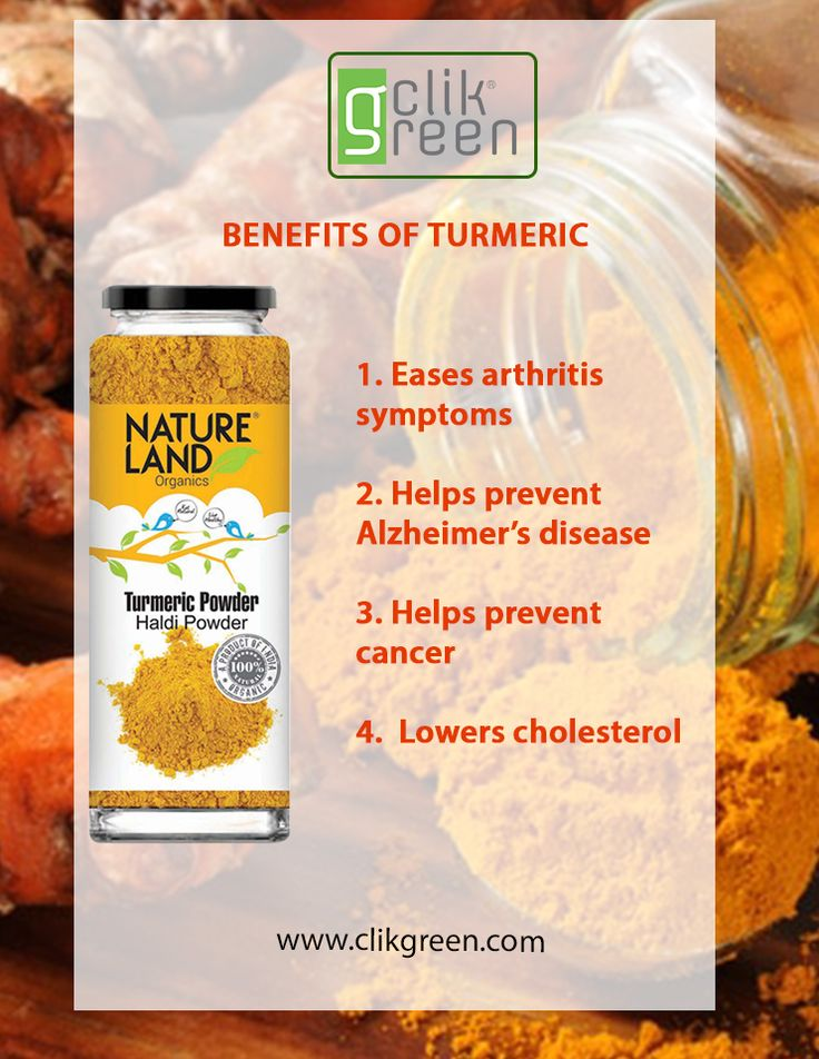 Benefit Of Turmeric: 1. Eases arthritis symptoms. 2. Helps prevent Alzheimer's disease. 3. Helps Prevent Cancer. 4. Lowers Cholesterol. #Cancer #Alzheimer #Arthritis #Cholesterol #Turmeric #Clikgreen #OrganicSpices