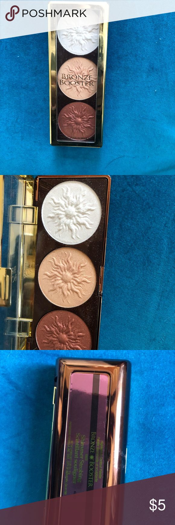 Physicians Formula Bronze Booster Bronzing pallet by Physicians Formula.  I bought this on the recommendation of a Youtuber who is young and beautiful, thinking some of that would be imparted to me through this product.  Nope.  Used once. Physicians Formula Makeup Bronzer