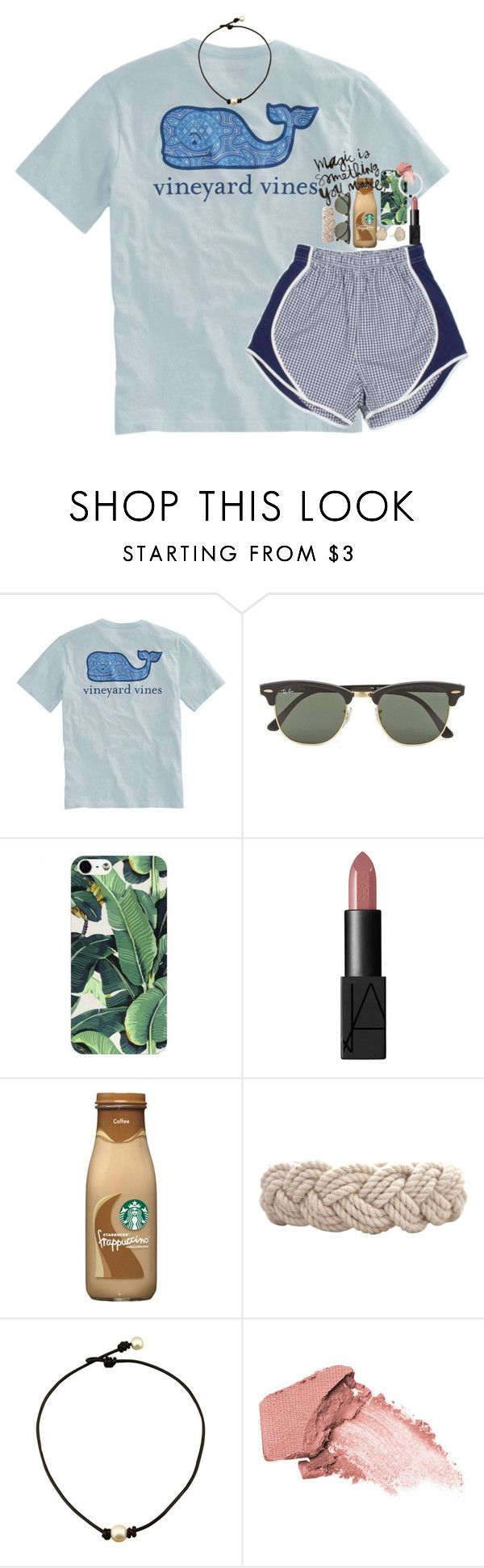 """""""je vous ai choisis"""" by classynsouthern ❤ liked on Polyvore featuring Vineyard Vines, Ray-Ban, NARS Cosmetics, Swell, Urban Decay and Kendra Scott"""