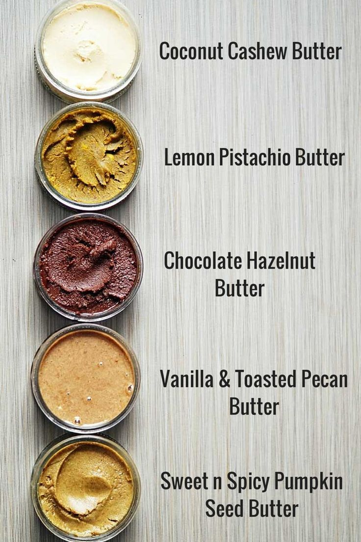 Nut and seed butters ~ #nutbutter, #health, #protein