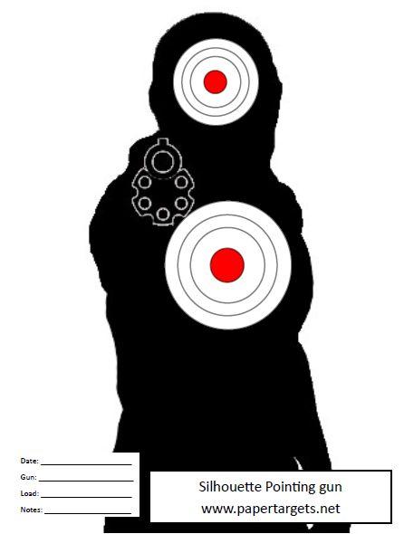 Silhouette Pointing Gun