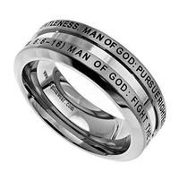 'Man Of God' - Men's Industrial Band-Christian Rings-Spirit and Truth-SGN2545196152-SonGear
