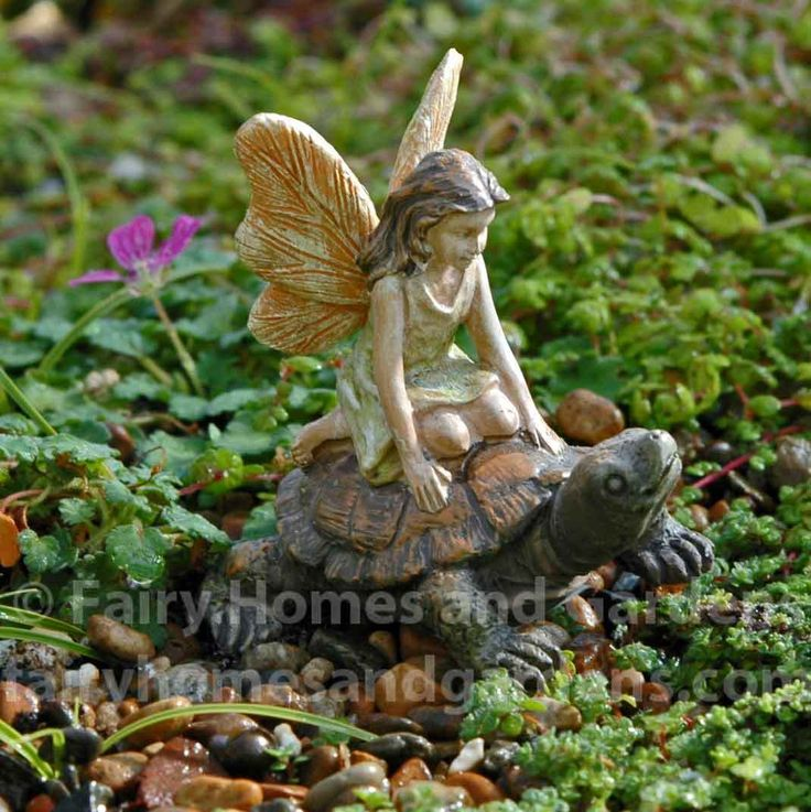 Fairy Homes And Gardens   Miniature Fairy   Tortoise Rider, $7.79 (https:/