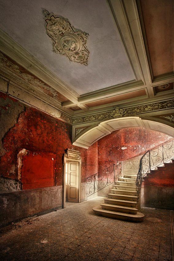 Red. Vintage. Abandoned. Ruins