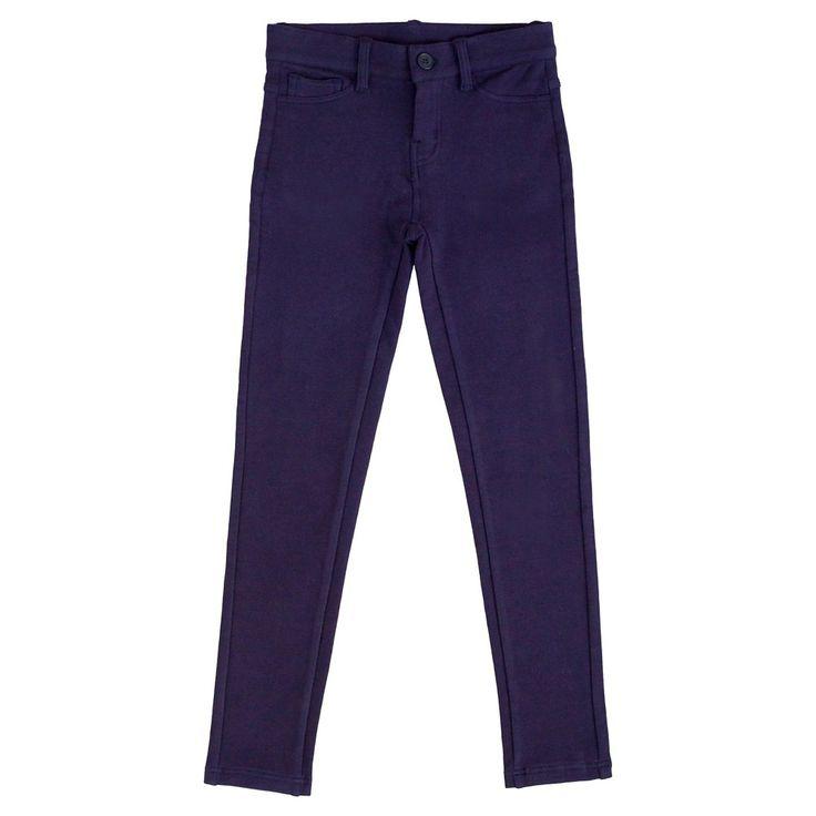 Eddie Bauer Girls' Stretch Legging 12 - Navy (Blue), Girl's