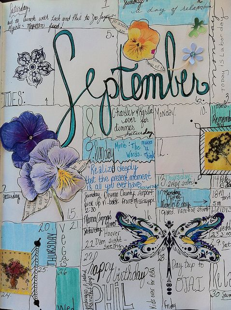 Calendar Journal by born 2 b creative, via Flickr
