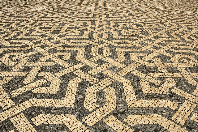The 'calçada' at Praça dos Restauradores in Lisbon...a work of art at your feet!