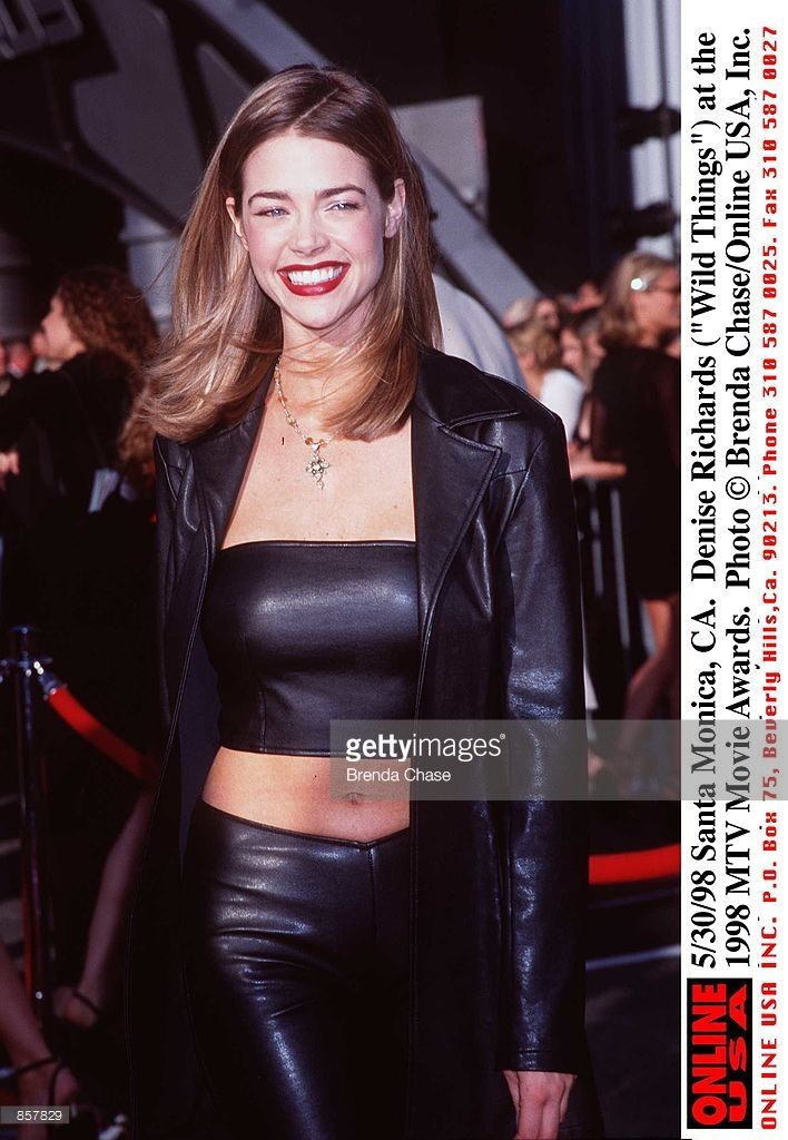 Santa Monica, CA. Denise Richards ('Wild Things') at the 1998 MTV Movie Awards. The program, hosted by Samuel L. Jackson, will be broadcast on MTV, Thursday, June 4, from 9-11 PM (ET/PT).
