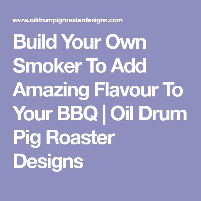 how to build your own smoker with brick