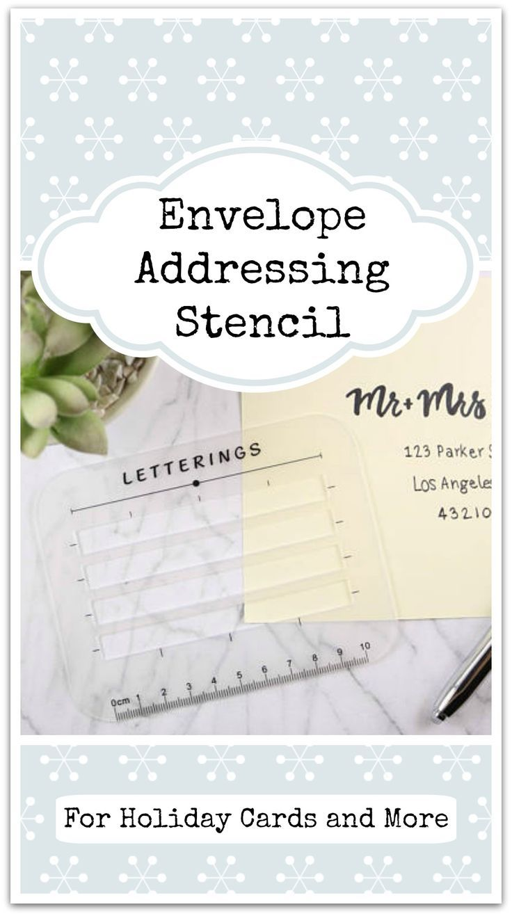 letter envelope address addressing stencil ruler guide template for holiday cards thank you notes diy labels wedding invitations and more ad a