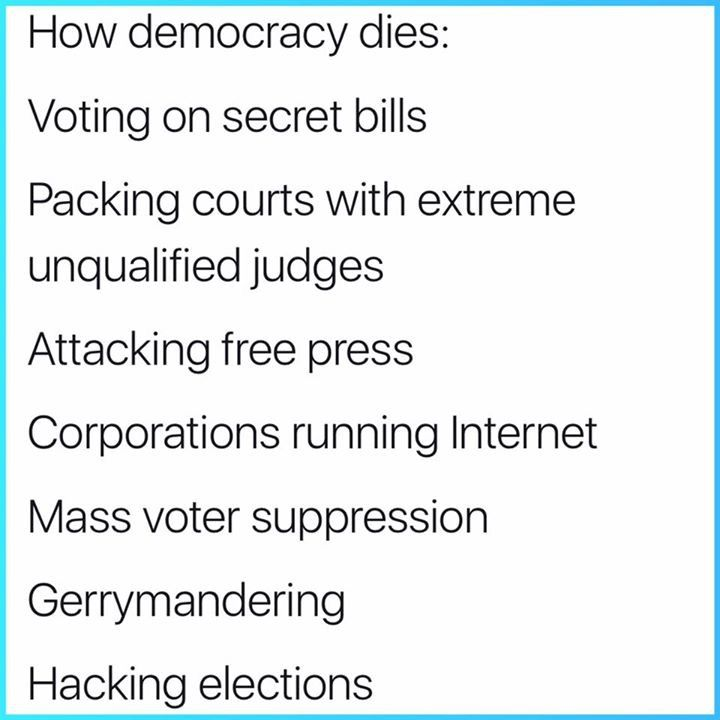 I guess democracy has failed. Can't wait to see the next string of dictators. Too bad for today's children!