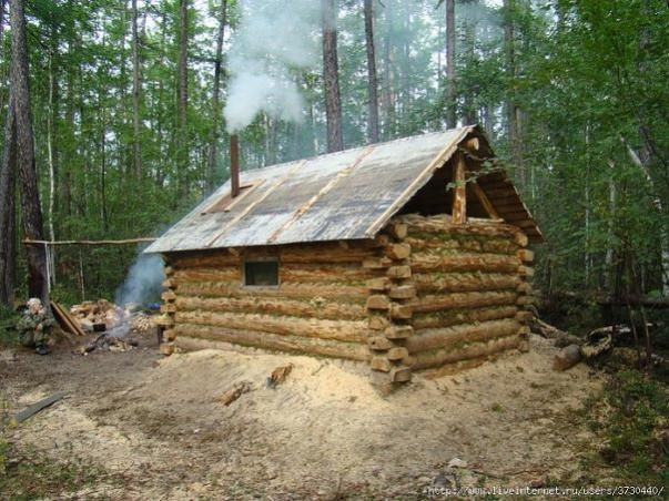 how to build a dugout cabin