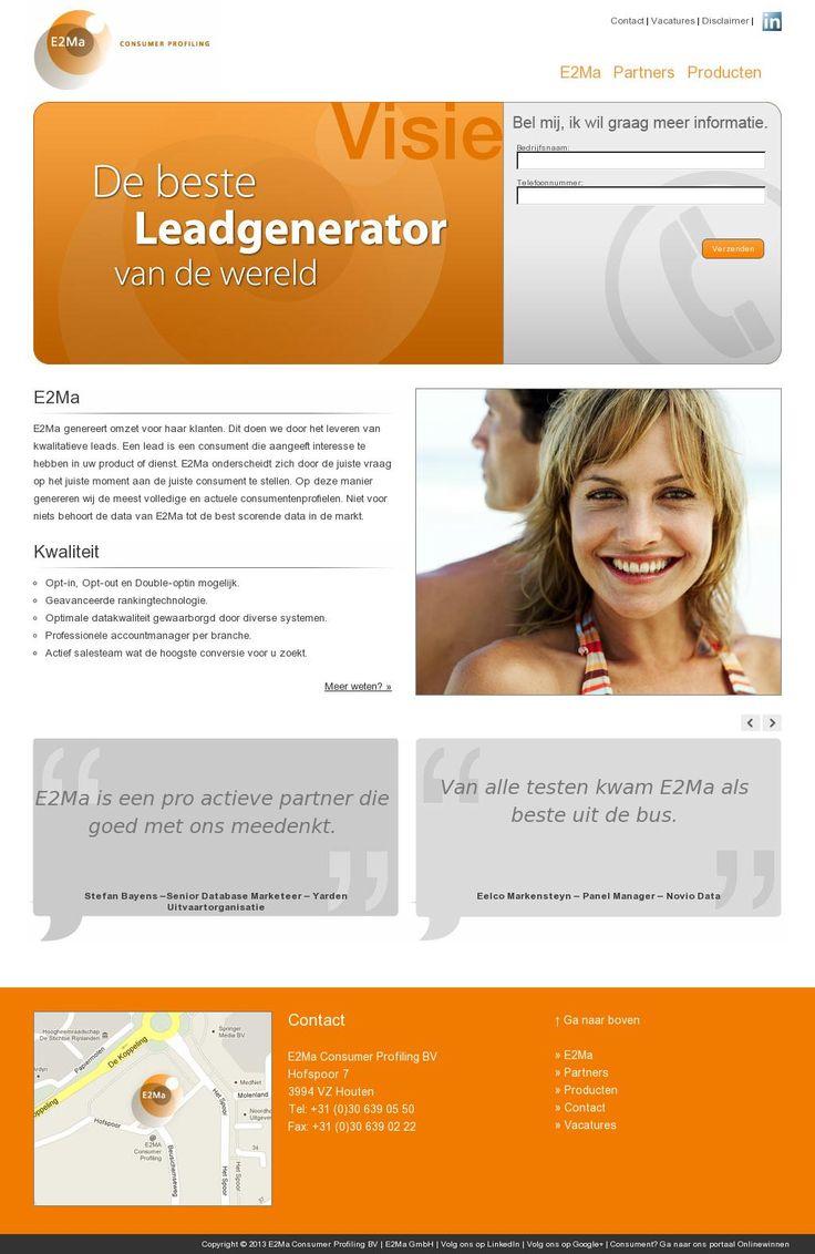 In 2007 als contentmanager gewerkt bij 'www.e2ma.nl'. Voornaamste taken waren bedenken en opzetten nieuwe consumenten enquetes in Nederlands en Duits. Data testen, email marketing en promotie folder gemaakt.