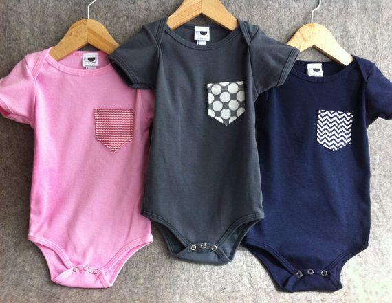pocket onesie infant pink grey navy 6-12m 12-18month 2, 4, 6 tee