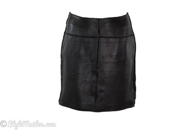 Industry Black Leather Mini Skirt Size 8 at http://stylemaiden.com