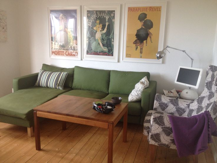 Retro vintage posters, and not afraid to live with colors! Miss our appartment.