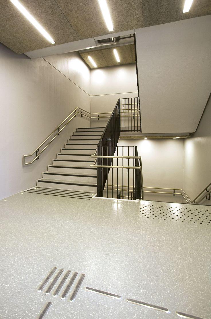 Kuben Yrkesarena School Oslo, Norway / Zeus flooring and stairsystem