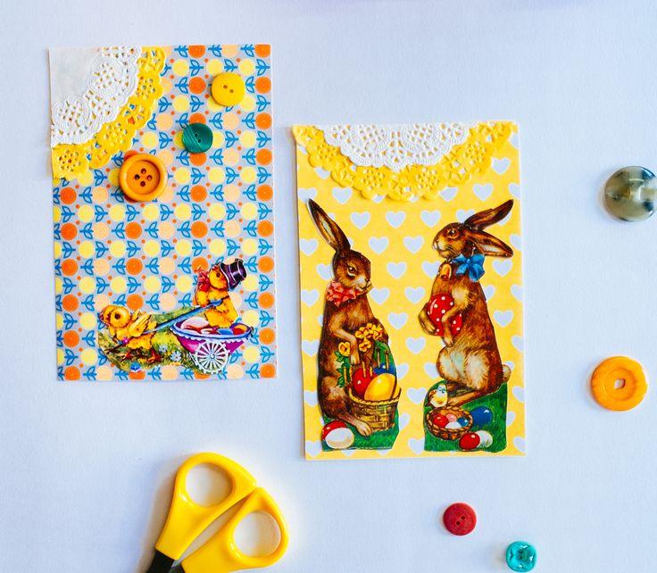 DIY: kaarten maken voor Pasen - DIY Easter - http://www.galerie-lucie.nl/