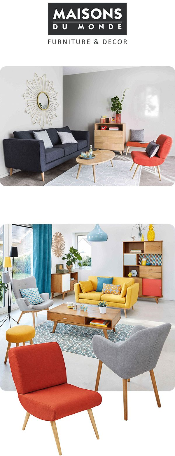 Vintage inspired sofas, unique armchair, statement mirrors and all the soft furnishings you need to create your universe. Shop for your living room at Maisons Du Monde.