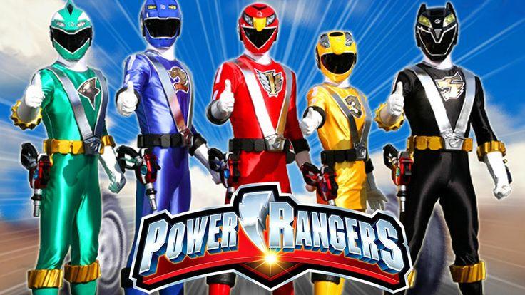 Finger Family Rhymes Power Rangers Cartoon | Finger Family Children Nurs...