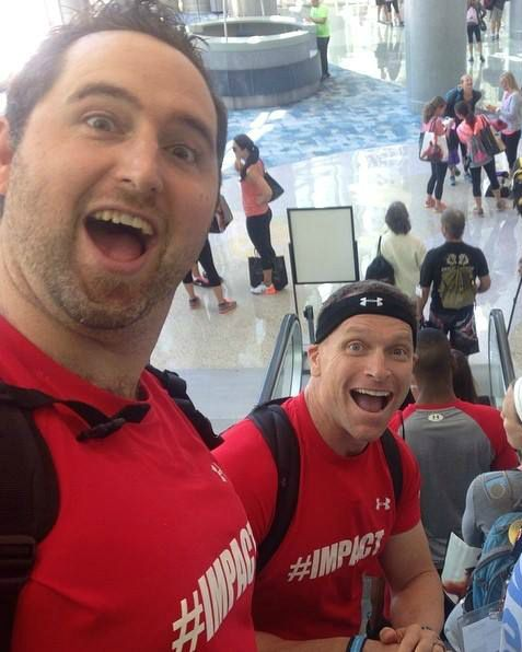 Matching Shirts......Matching Facial Expressions! IDEA World 2014 with none other than Todd Durkin!