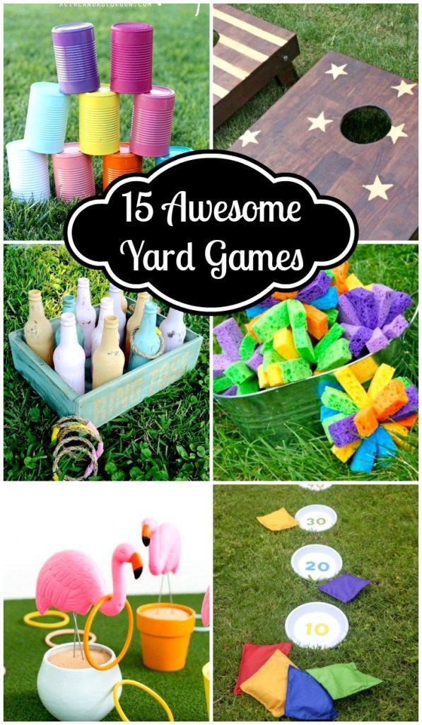 These 15 Awesome Yard Games look like so much fun. So many great ideas, most of…